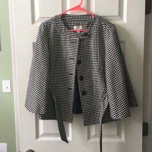 Ann Taylor Loft black and white jacket size 12